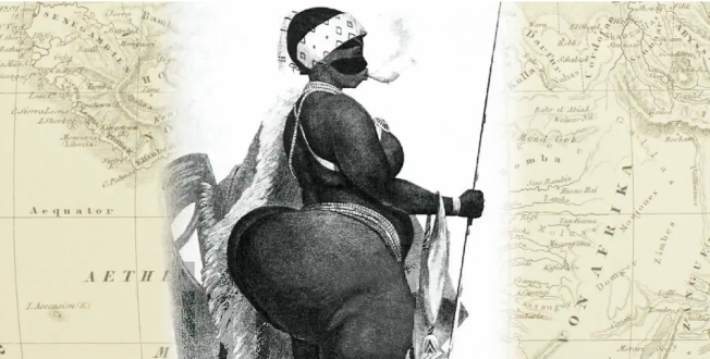 "Sarah Baartman also known as ""Hottentot Venus"". She was paraded around Europe in something akin to a 'human zoo'."