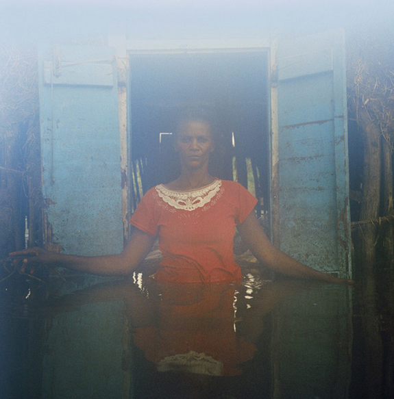 Adlene Pierre Savanne Desole, Gonaives Haiti Sept 2008 (water damaged film)