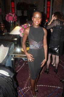 Lupita Nyong'o at the BFI gala reception for 12 Years A Slave.