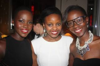 Lupita Nyong'o, myself and my friend (and plus one for the night) Janet from CoolOnDemand/FashionDemocracy Photo Credit: CoolOnDemand/FashionDemocracy