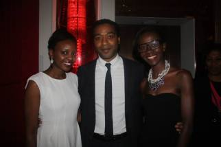 Myself, star of 12 Years A Slave Chiwetel Ejiofor and Janet from CoolOnDemand/FashionDemocracy Photo Credit: CoolOnDemand/FashionDemocracy