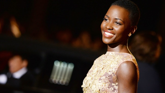 Lupita Nyong'o arriving for the Palm Springs Awards.