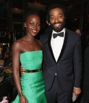 Lupita Nyong'o and Chiwetel Ejiofor attend Entertainment One's BAFTA after party hosted by Grey Goose at The London Edition Hotel on February 16, 2014 in London, England. (Photo by David M. Benett/Getty Images for Grey Goose)