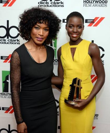 Lupita with Angela Bassett