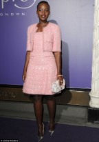 Lupita Nyong'o arriving for the EE British Academy Film Awards (BAFTA) Nominees Party.