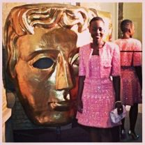 Lupita Nyong'o getting ready to attend the EE British Academy Film Awards ( BAFTA) Nominees Party.