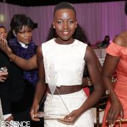 Lupita poses with her Best Breakout Performance Of The Year award at the 7th Annual Essence Online Black Women In Hollywood Luncheon on Feb 27, 2014.