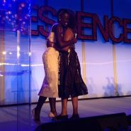 Lupita accepts her Best Breakout Performance Of The Year award presented to her by her 12 Years a Slave co-star Alfre Woodard at the 7th Annual Essence Online Black Women In Hollywood Luncheon on Feb 27, 2014. Photo credit: @rscapellan