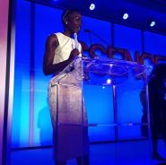 Lupita accepts her Best Breakout Performance Of The Year award at the 7th Annual Essence Online Black Women In Hollywood Luncheon on Feb 27, 2014.