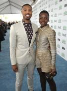 Actor Michael B Jordan and Lupita arrive for the 2014 Film Independent Spirit Awards, on Saturday, Mar. 1, 2014