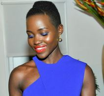 Lupita at the LoveGold cocktail party where she was guest of honour on Feb 26, 2014.