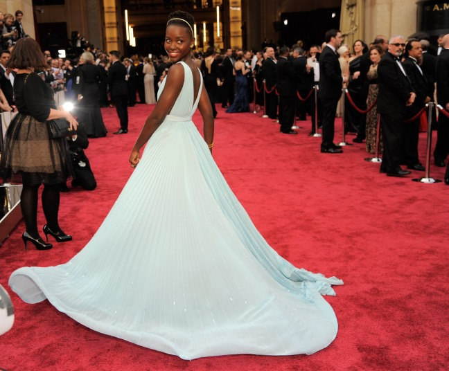 Lupita arrives for the 86th Academy Awards on March 2nd 2014.