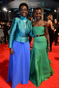 Lupita Nyong'o with her mother Dorothy Nyong'o at the BAFTA awards.
