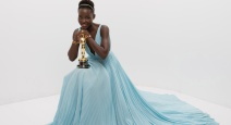 Lupita poses with her award for best supporting actress at the 86th Academy Awards ceremony. Photo Credit - A.M.P.A.S/REX