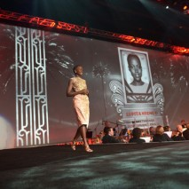 Honoree Lupita accepting the Breakthrough Performance award.