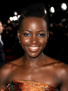Lupita arriving for the premiere of Non-Stop.