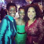 Lupita Nyong'o with her mother Dorothy Nyong'o and Oprah Winfrey Photo: @rscapellan