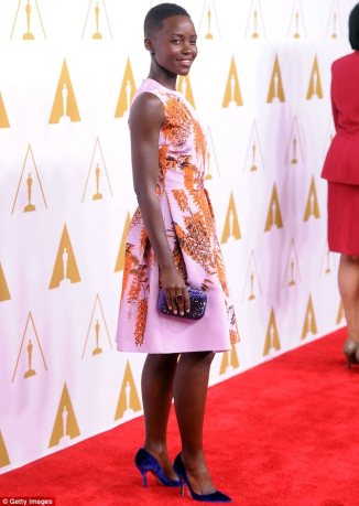 Lupita Nyong'o arriving for the Oscar Nominees Luncheon. © Getty Images