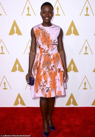 Lupita Nyong'o arriving for the Oscar Nominees Luncheon. Photo © Jordan Strauss/Invision/AP