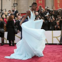Lupita Nyong'o arrives for the 86th Academy Awards on March 2nd 2014.