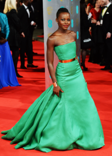 Lupita Nyong'o at the EE British Academy Film Awards 2014.