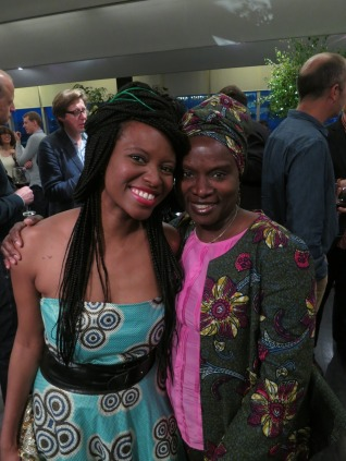 Isibor with Angelique Kidjo at a ONECampaign launch at the Tate Modern